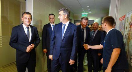Plenković i Posavec zajedno obišli čakovečku bolnicu