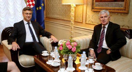 Plenković primio Čovića na razgovor o preprekama u formiranju vlasti u BiH
