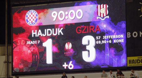 UEFA Debakl Hajduka protiv Gzire na hrvatski koeficijent dodao tek 0,25 bodova