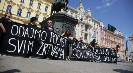 'ZLOČINI U OLUJI ODGOVORNOST SU SVIH NAS': Prosvjed aktivista u Zagrebu