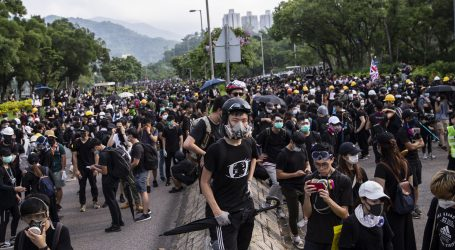 HONG KONG Tisuće ljudi prosvjeduje unatoč policijskoj zabrani