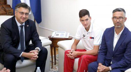 Plenković primio svjetskog juniorskog prvaka i rekordera Franka Grgića