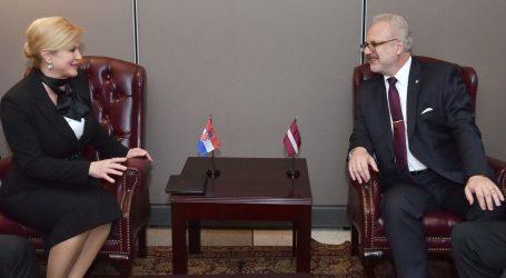 Grabar-Kitarović na summitu UN-a o klimi, bilateralno s predsjednicima Latvije i Kosova
