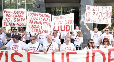 Prosvjed pravosudnih policajaca, Bošnjaković obećao pomoć