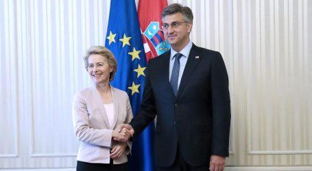 Plenković započeo posjet Bruxellesu radnim ručkom s Ursulom von der Leyen