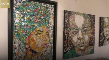 VIDEO: Južnoafrički umjetnik stvara uz pomoć odbačene plastike, limenki…