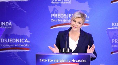 Grabar-Kitarović: Vjerujem da Hrvatsku možemo graditi kao zemlju po mjeri čovjeka