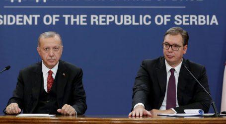 """Erdogan i Vučić ocijenili suradnju Srbije i Turske """"iznimnom"""""""