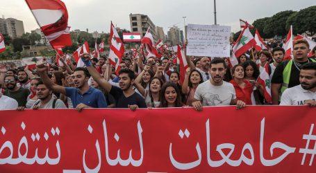 Libanonski prosvjednici diljem zemlje formiraju ljudski lanac