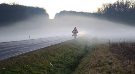 Mjestimice vrlo gusta magla smanjuje vidljivost u većem dijelu zemlje