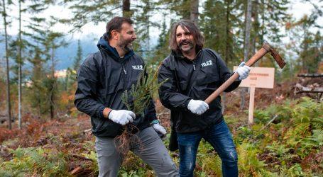 Zaposlenici Tele 2 s Mrletom sadili drveće u Gorskom kotaru
