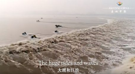 VIDEO: Utrka uz plimne valove na rijeci Qiantang