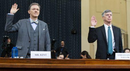 Saslušanje u istrazi za opoziv Trumpa usredotočuje se na navodni pritisak na Ukrajinu