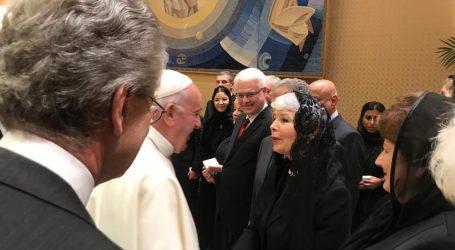 Jadranka Kosor i Ivo Josipović zajedno u posjeti kod Svetog Oca Pape Franje