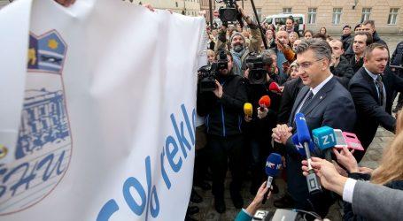 Plenković izašao pred prosvjednike na Markovu trgu, oni mu odgovorili tišinom