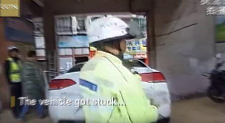 VIDEO: Neobična prometna nezgoda