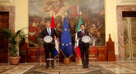 """Conte i Plenković: """"Hrvatska i Italija bilježe uzlet u bilateralnim odnosima"""""""