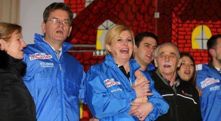 Grabar-Kitarović iz Dražica krenula u predizbornu kampanju za drugi mandat