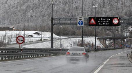 Olujni vjetar otežava promet, snijeg pada u Lici i Slavoniji