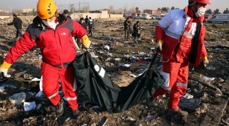 Iran potvrdio da je srušio ukrajinski zrakoplov
