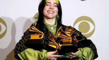 TRIJUMF TINEJDŽERICE: Billie Eilish osvojila četiri glavna Grammyja