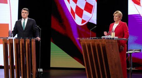 Grabar-Kitarović i Milanović oglasili se na društvenim mrežama nakon debate