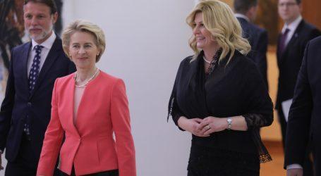 Predsjednica na Pantovčaku održala govor povodom hrvatskog predsjedanja Europskom unijom
