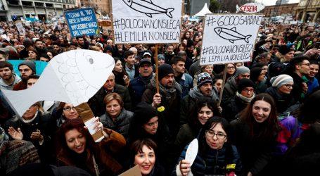 Pokret Sardina prosvjedovao protiv Salvinija u Bologni uoči regionalnih izbora