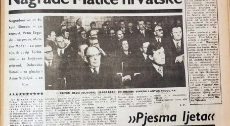 Među dobitnicima nagrada Matice hrvatske za 1970. godinu i Antun Vrdoljak
