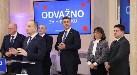 Plenković predstavlja svoj program i tim za unutarstranačke izbore