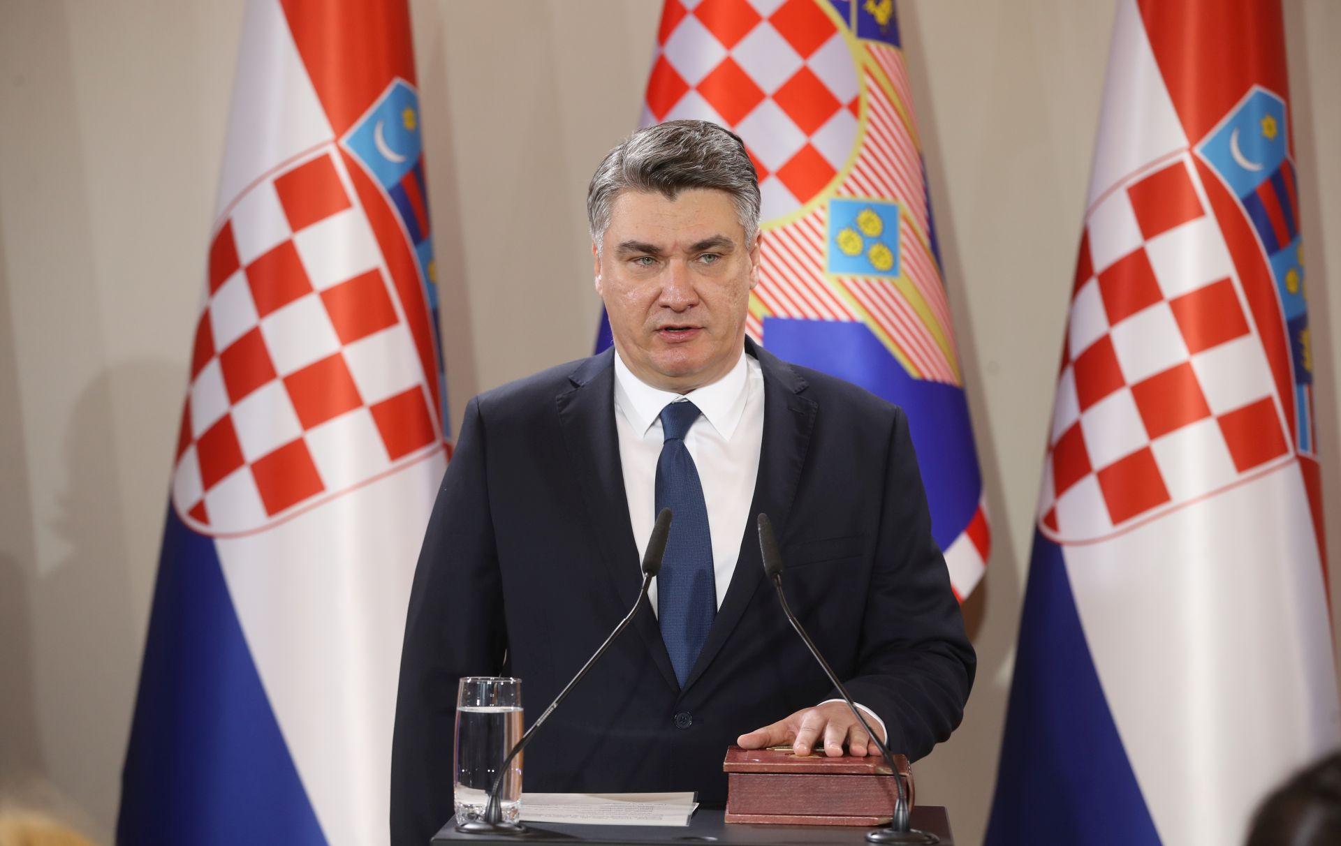 PETI HRVATSKI PREDSJEDNIK! Zoran Milanović položio zakletvu: Ovo je kuća za nas, za sve nas!