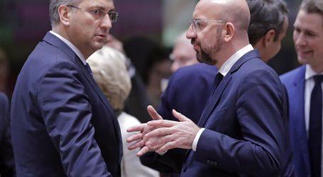Predsjednik Europskog vijeća započeo bilateralne sastanke, prvi s Plenkovićem