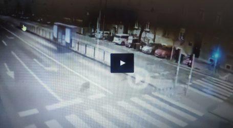 DIVLJANJE NA CESTI: Audijem A6 raznio tramvajsku stanicu i pokosio zaštitne stupiće