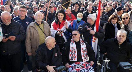 Prosvjed branitelja protiv Beljaka u Samoboru