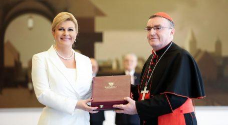 Grabar-Kitarović uručila Bozaniću posmrtno odlikovanje za kardinala Kuharića