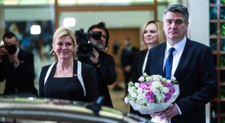 Milanović ispratio Grabar Kitarović s Pantovčaka, dao joj buket cvijeća