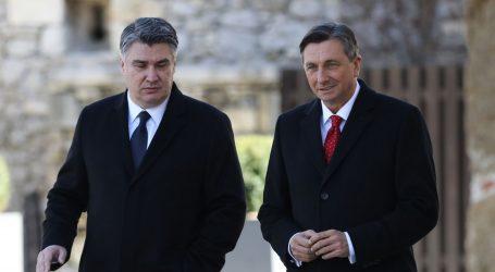 Milanović u radnom posjetu Sloveniji, počeo razgovor s Pahorom