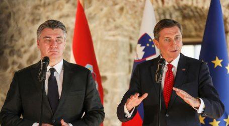 """Milanović i Pahor žele bolje odnose unatoč """"problemčićima"""""""