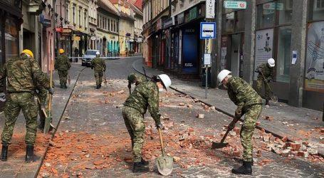 MORH: Vojska i strojevi u raščišćavanju centra Zagreba