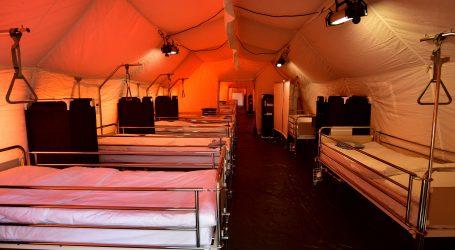 SLOVENIJA Dovršeno postavljanje mobilne vojne bolnice u Ljubljani