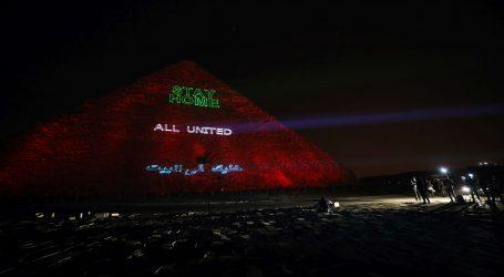 """Keopsova piramida u Gizi kao projekcijski video zid: """"Ostanite doma"""""""