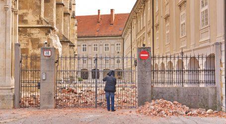 Bozanić i Bandić obišli oštećeni Nadbiskupski dvor
