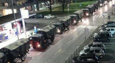 ITALIJA: Vojska kamionima odvozi tijela žrtava koronavirusa iz Bergama