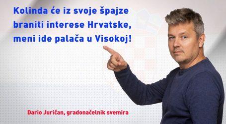 """Juričan: """"Kolinda odlučila čučati doma i iz vlastite špajze podizati ugled Hrvatske"""""""