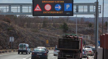 HAK: Pogledajte koji su dijelovi autocesta A1 i A6 otvoreni samo za osobna vozila zbog olujnog vjetra