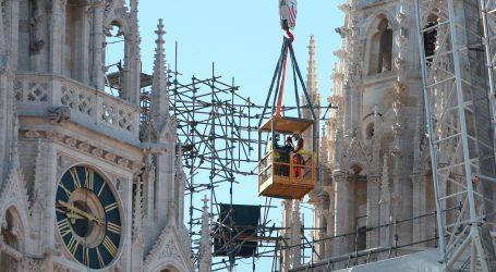 ZAGREB: Danas započinje uklanjanje oštećenog tornja na zagrebačkoj katedrali