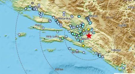 Potres jačine 4 po Richteru pogodio BiH, osjetio se i u Dalmaciji