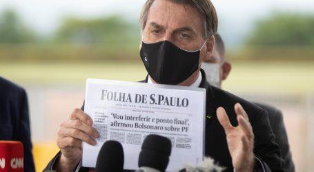 Bolsonaro na Twitteru kritizira mjere protiv koronavirusa