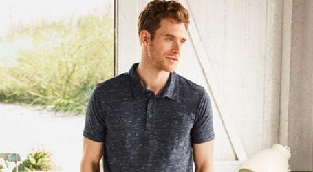 Muške polo majice slim kroja u plavim i sivim nijansma