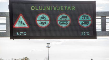 HAK: Jak vjetar na Jadranskoj magistrali ograničava promet